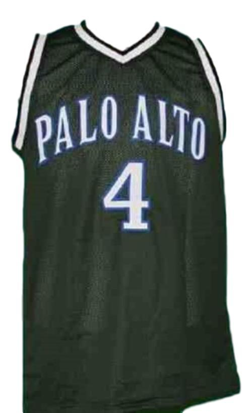 Jeremy lin  4 palo alto high school basketball jersey green   1
