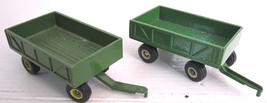 1:64 Ertl (lot of 2) Green Barge Box Wagons - $10.00