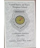 US Air Force Weapons School Graduation Banquet  w/ Gen Kehler Souvenir P... - $5.95