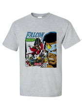 The Falcon 1st Cover T-shirt retro 1970's marvel comics silver age heather grey image 1