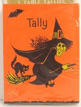 Hallmark Halloween Witch Tally Cards Sealed Package 12 Cards Table Tallies 1960s - $21.78