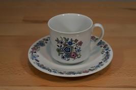 Royal Doulton SHERWOOD Cup & Saucer TC1103 1973 Vintage Flowers - $10.39