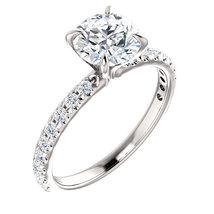 Charles & Colvard Moissanite® & Diamond Accented Engagement Ring - $1,399.99