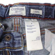 Oshkosh B'gosh Youth Boys Adjustable Waist Loose Fit Straight Leg Jeans Sz 6 image 3