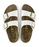 Birkenstock Arizona Birko Flor Patent White Women Narrow Comfort Sandals... - £84.77 GBP