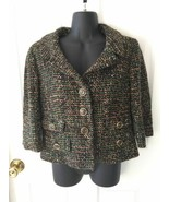 Ann Taylor LOFT Black Green Speckled Blazer Career Jacket Sz 6 - $49.99