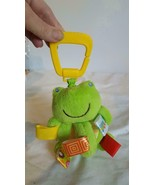"5""PLUSH BABY INFANT TAGGIES FROG ACTIVITY CRIB STROLLER TOY,PULL DOWN VI... - $4.94"