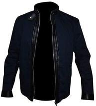 Mens David Collins The Guest Dan Stevens Blue Cotton Jacket image 1