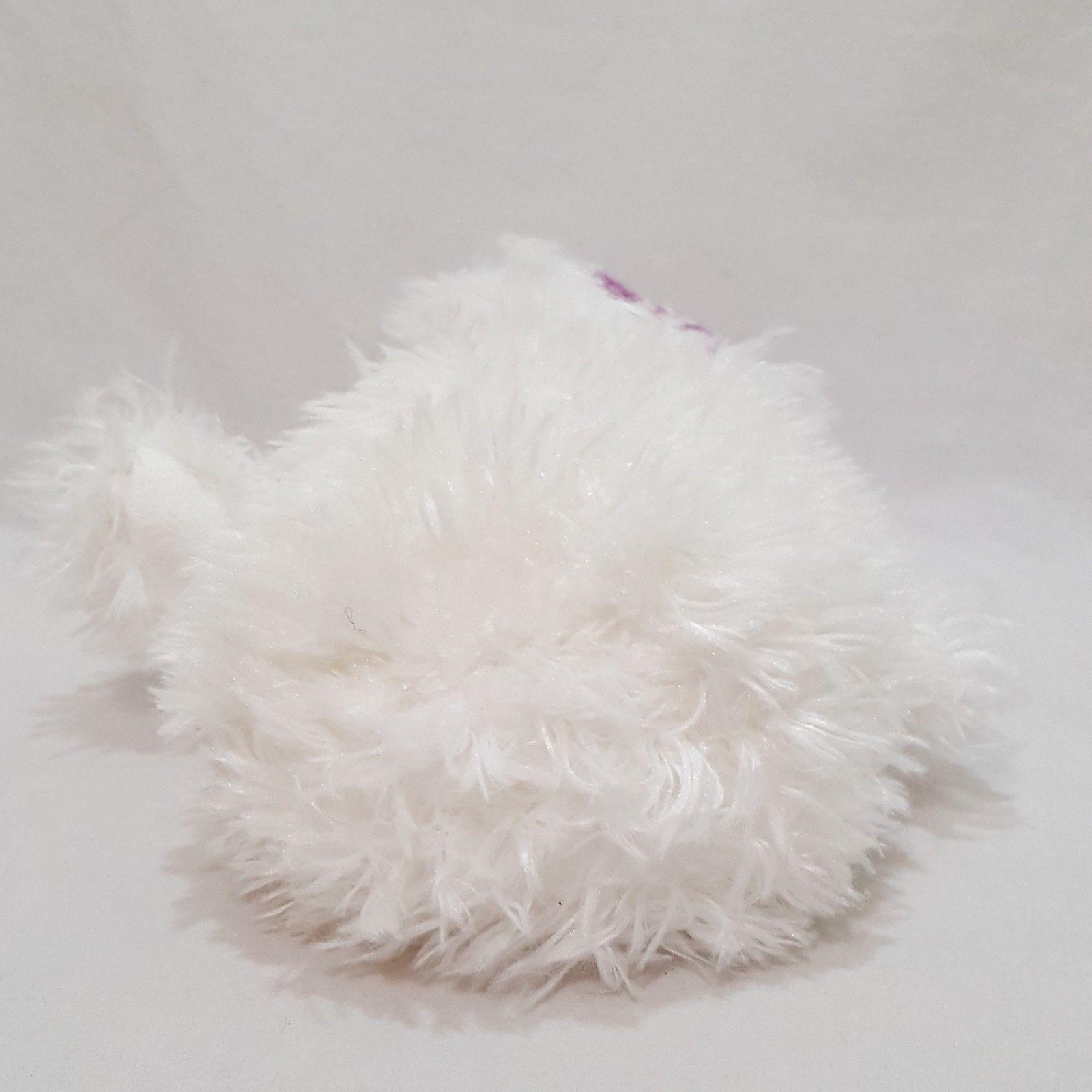 "Snowman Snowy Teddy Bear Stuffed Animal Plush Boyds Bears White Lavender Hat 8"""