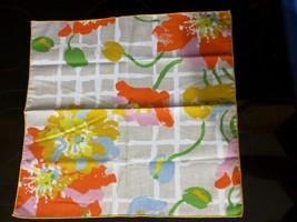 4 Vintage Mid Century Retro Hand Crafted Art Deco Bright Color Floral Na... - $19.79