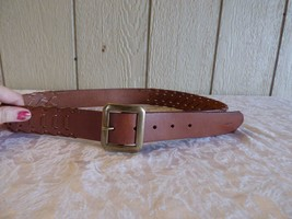 $58.00  Lauren Ralph Lauren Langton Whipstitch Jean Belt , Tan, size M - $21.04