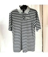 MLB Milwaukee Brewers Polo Shirt Golf Shirt Large Narvy Blue and Gray St... - $26.95