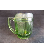 Mini GREEN GLASS beer barrel shot glass decorative barrel shooter cup - $9.89