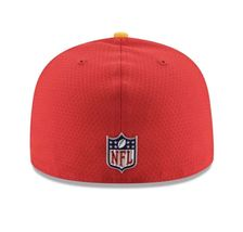 New Era 59Fifty Hat Kansas City Chiefs NFL 2017 On Field Sideline Fitted Hat!! image 4