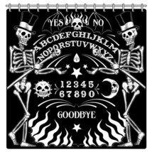 Too Fast Skeleton OUIJA Board Tattoo Gothic Punk Shower Curtain AHWSC-T-OUIJA image 1
