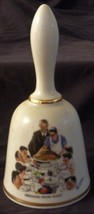 Freedom From Want Norman Rockwell - 1976 Danbury Mint Collectible Bell - VGC COA - $26.72