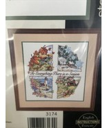 A Season For Everything Stamped Cross Stitch 3174 Karen Avery Spring Summer Fall - $15.94