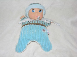 "BF BABYS BABY'S FIRST SNUGGY BOY DOLL GOLDBERGER 10"" BLUE RATTLE TOY LOVEY - $32.91"