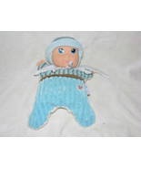 "BF BABYS BABY'S FIRST SNUGGY BOY DOLL GOLDBERGER 10"" BLUE RATTLE TOY LOVEY - $27.71"