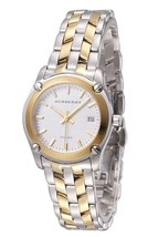 Burberry Women Heritage BU1857 Dual Tone Silver Gold Swiss Lady Watch - $420.81 CAD