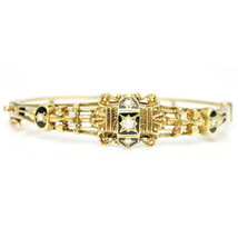 Sydney Berman & Co. 14 Karat Gold Victorian Diamond Bangle Bracelet - $2,326.50