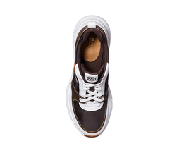 Michael Kors Women's Mickey Trainer Tech Canvas Casual Chocolate Sneaker Shoes image 5