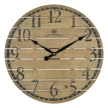Bee & Willow Home 18-Inch Round Wall Clock in Walnut - $43.59