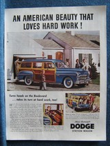 1949 Dodge Station Wagon Ad Print  Woodie Woody  Neighbors Like It - Hunting Dog - $8.41