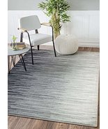 Modern Area Rug Grey Abstract Striped Design Rugs Ombre New Contemporary... - $94.63