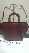 NWT New Coach Dakotah 22 Leather Bordeaux Satchel Handbag Purse 22778 - ₹24,681.08 INR