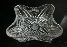 """Vintage Handcrafted European 24% Lead Crystal 6.5"""" Berry Bowl Candy Dish... - $24.74"""