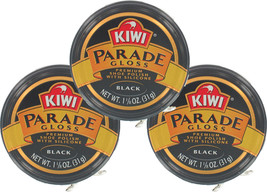 3 Pack - Kiwi Black Small Parade Gloss 1-1/8oz. Premium Shoe Polish - $18.99