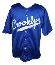 Custom Name # Crooklyn Baseball Jersey Button Down Blue Any Size image 4