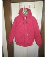 CARHARTT Women's Crab Apple Sandstone Hooded Jacket-Camo Lining-Size M 8-10 - $99.95
