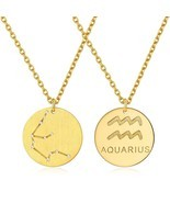 18K Gold Plated Sterling Silver Astrology Constellation Horoscope Zodiac... - $79.53
