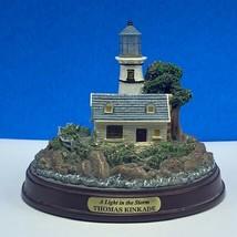 Thomas Kinkade Lighthouse statue sculpture figurine painter light in Sto... - $29.65