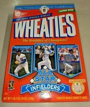 Vintage 1997 Wheaties MLB All Star Infielders Cereal Box Ripken Piazza Sandberg - $18.48