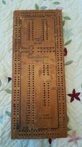 Vintage Drueke Scoremaster Wood Cribbage Board No Pegs - $6.92