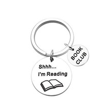 SEIRAA Bookworm Gift Librarian Gift Book Club Jewelry Shhh I'm Reading K... - $15.24