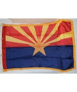 Valley Forge Arizona Flag Pole Hem Yellow Fringe Three By Five Feet - $24.99