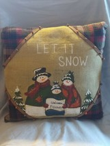 Decorative Throw Pillow Holiday Winter Snowman Snow15x15 - $24.74