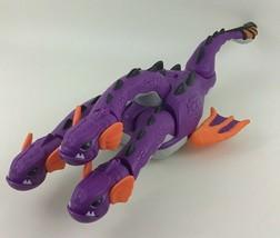 "Fisher Price Imaginext 3 Headed Sea Dragon Hydra 18"" Purple Orange Movin... - $31.14"
