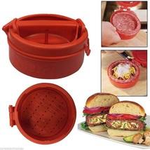 Hamburger Maker Press Meat Device Hamburger Tool Manual Kitchen DIY Cook... - $10.95