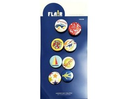 American Craft Junior Flair Button Stickers, Vroom, 8 Count