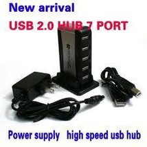 7 PORT HIGH SPEED USB HUB WITH AC POWER ADAPTER - $22.95