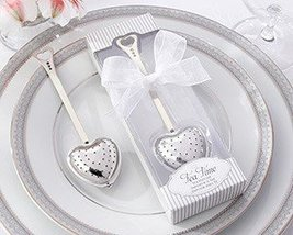 Tea Time' Heart Tea Infuser in Elegant White Gift Box - Total 24 items - $92.97 CAD