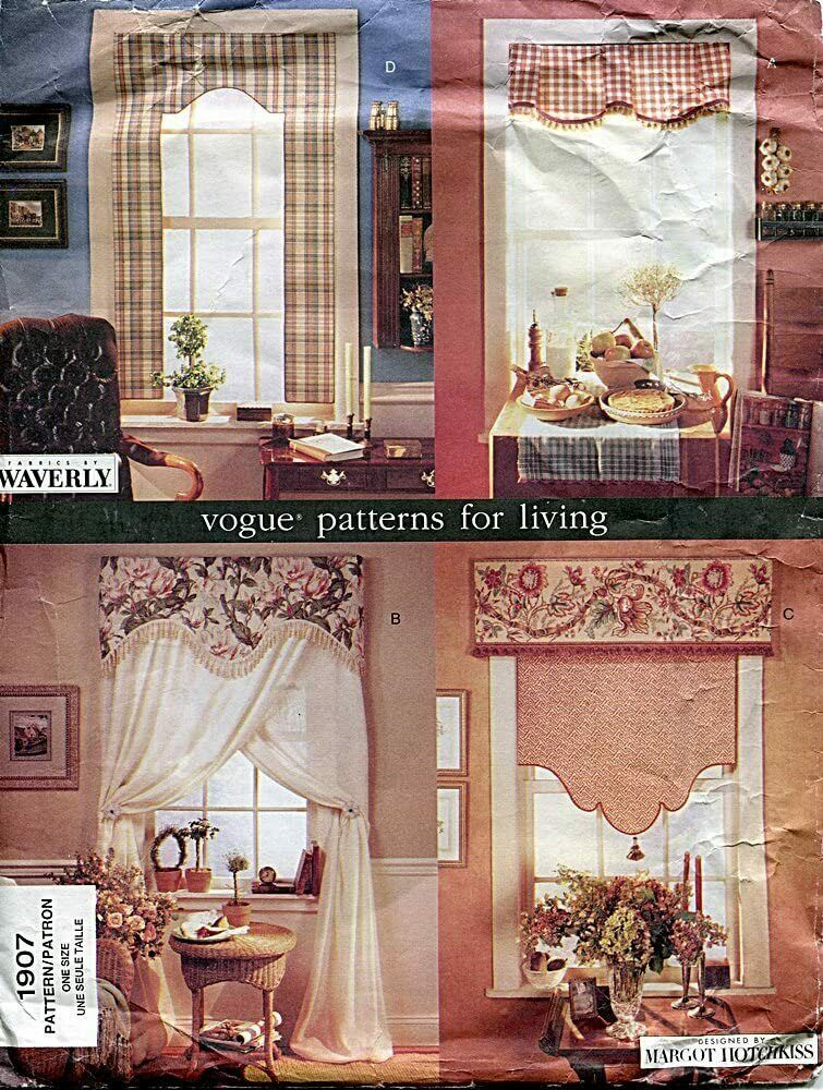 Primary image for Vogue Patterns for Living 1907 No Sew Windows New Uncut
