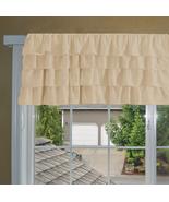 Chiffon BEIGE Ruffle Layered Window Valance any size - $29.99+