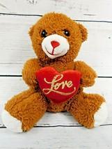 Dan Dee Collector's Choice Brown LOVE Teddy Bear Sweetheart Teddy Bear 2016 - $11.35