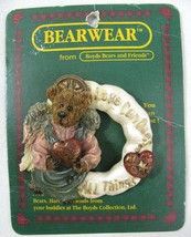 Vtg Boyds Bears & Friends Bearwear Brooch Love Conquers All Things Angel 26019  - $7.91